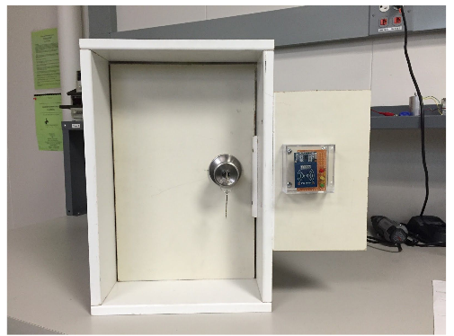 RFID Module End Product Installed on Door Model