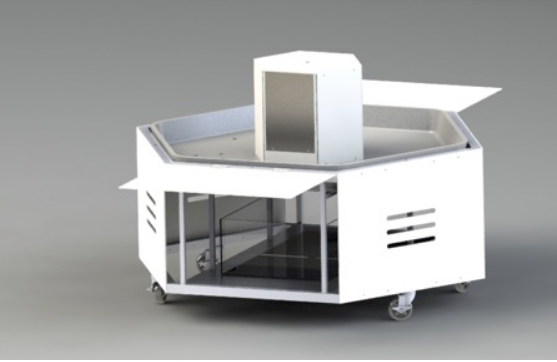 Figure 18: Solidworks rendering of the proposed Exploration Station water exhibit.