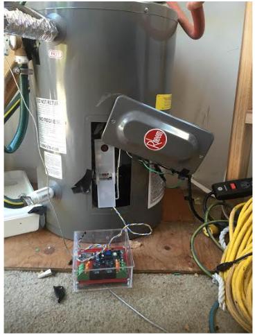 Figure 4.1: 10 Gallon Water Heater Experimental Set Up