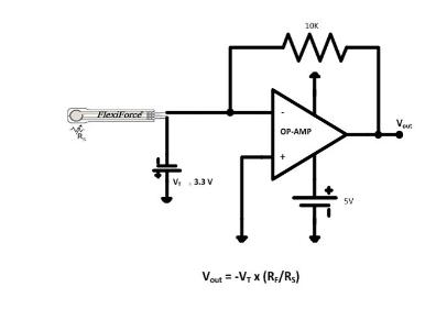 Figure 7. Amplifier circuit with pressure sensor.