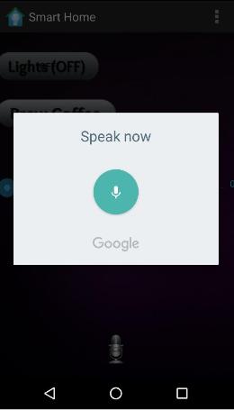Figure 5.3 – Screenshot of voice dialog box for speech - to - text.