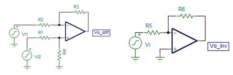 Figure 9: Subtractor and inverter: Subtractor is used for antagonistic subtraction of filtered signals