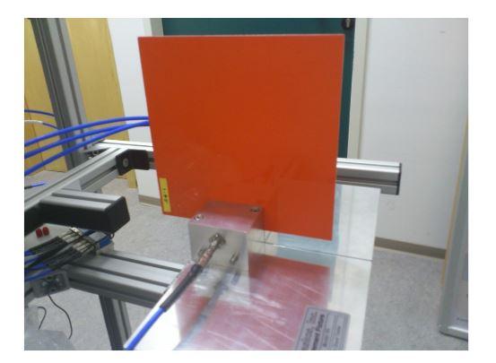 Figure 9. Measurement of a SCRAB-II slab material in a split cavity resonator