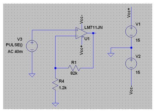 Fig. 3: 50x Amplifier Circuit Schematic