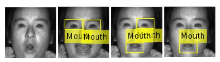 Figure 4.1: False Negative Detection Results from Viola Jones Mouth Detection Given IR Face Input in P2