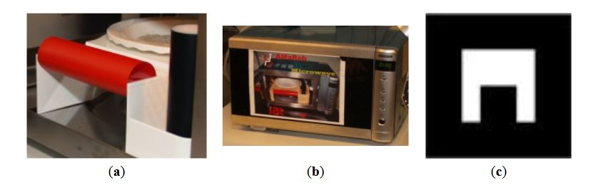 Figure 4. Marker layout used to distinguish between home devices, object with specific color and size as marker