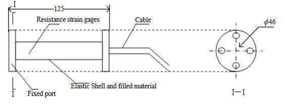 Figure 2. Structural sketch of the strain sensor (Units: mm)