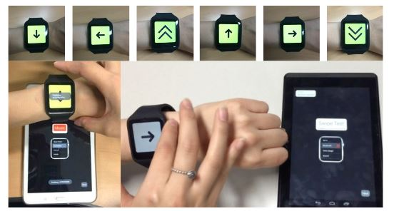 Figure 4. Developed motion-gesture based UI prototypes