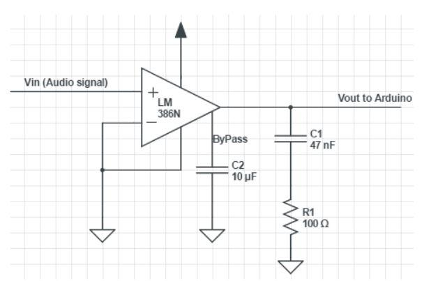 Figure 3.4 : amplifier schematics