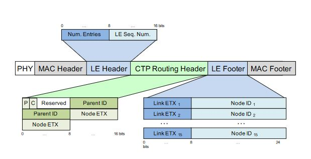Figure 2.3. CTP routing packet structure