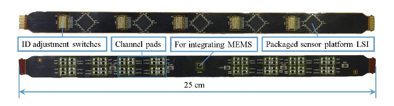 Figure 10. Photograph of Flexible Printed Circuits (FPC) cable with five sensor platform LSIs